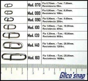 Snap Engate Rapido 5Lbs Mod.070 10pç. Glico Snap